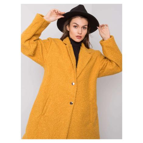 Horčicový rovný kabát