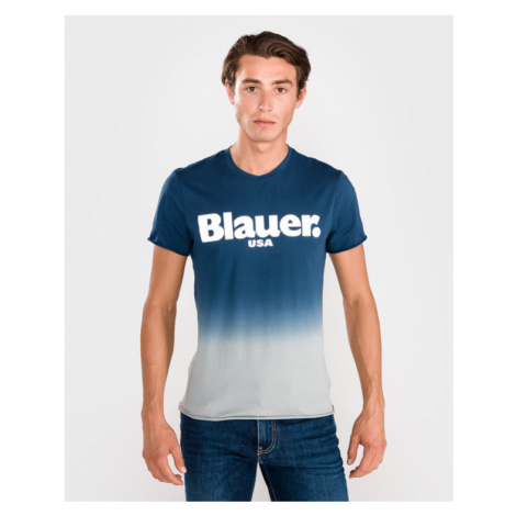 Blauer Shaded Tričko Modrá