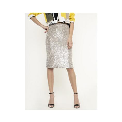 Manila Grace Puzdrová sukňa N027PY Béžová Regular Fit