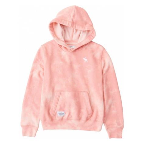 Abercrombie & Fitch Mikina  ružová / biela