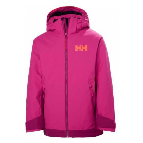 Helly Hansen JR HILLSIDE JACKET ružová - Detská lyžiarska bunda