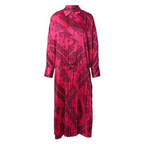Gina Tricot Košeľové šaty 'Lola'  pitaya / čierna
