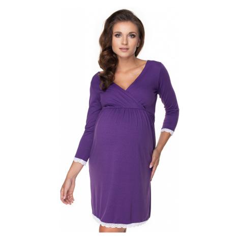 Fialová tehotenská nočná košeľa 0156 PeeKaBoo