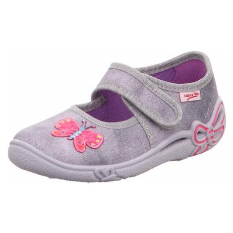 SUPERFIT Papuče 'BELINDA'  ružová / červená / sivá