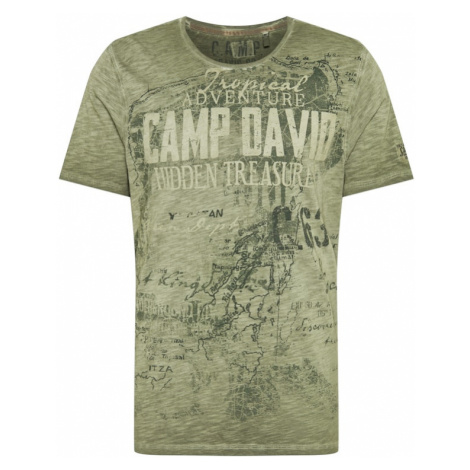 CAMP DAVID Tričko  kaki / trstinová