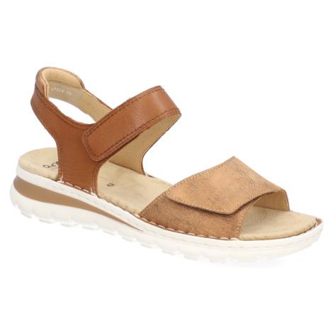 Ara kombinácia s kožou Sandále hnedá