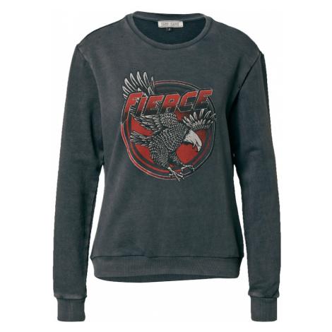 Cars Jeans Mikina 'Sully'  čadičová / antracitová / svetlosivá / pastelovo červená