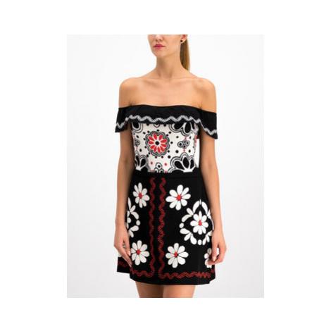 Red Valentino Úpletové šaty RR0KDA12 Čierna Regular Fit