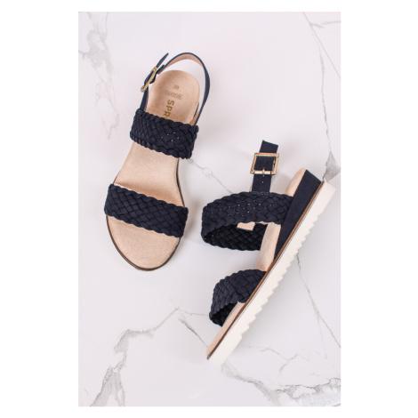 Tmavomodré platformové sandále Cindy SPROX