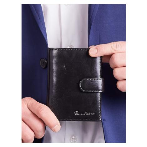 Men´s Black Leather Vertical Wallet