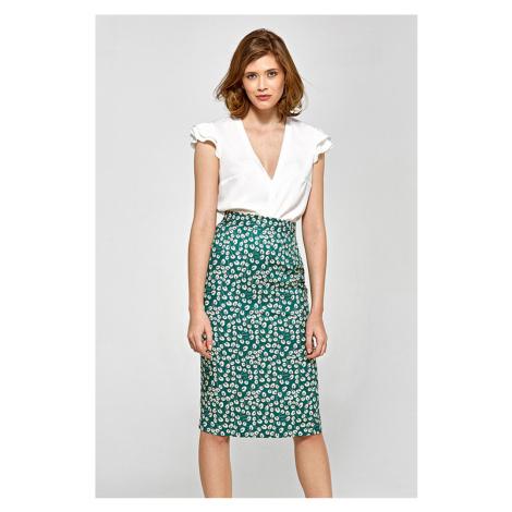 Zelená vzorovaná sukňa CSP03 Colett