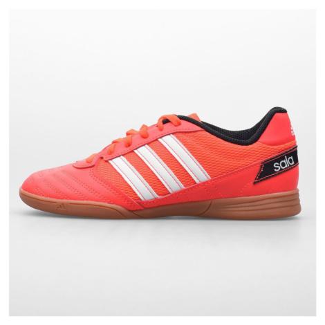 Adidas Super Sale Junior Indoor Football Trainers SolarRed/White