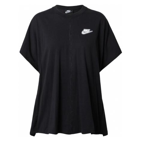 Nike Sportswear Tričko  čierna / biela