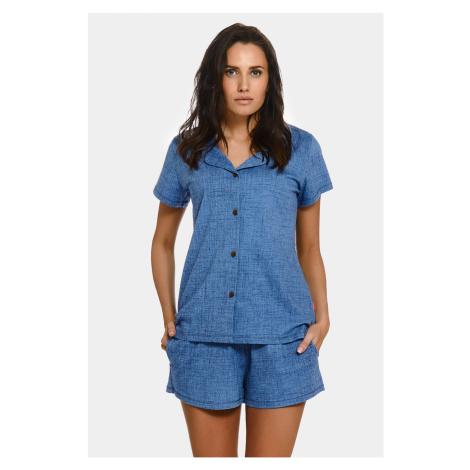 Materské dojčiace pyžamo Jeans modrá