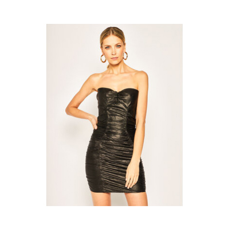 Elisabetta Franchi Koktejlové šaty AB-996-02E2-V449 Čierna Slim Fit