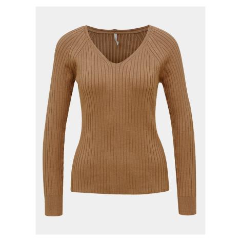 Hnedý basic sveter ONLY Natalia