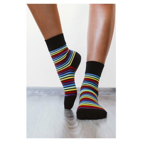 Barefoot ponožky - dúhové 39-42