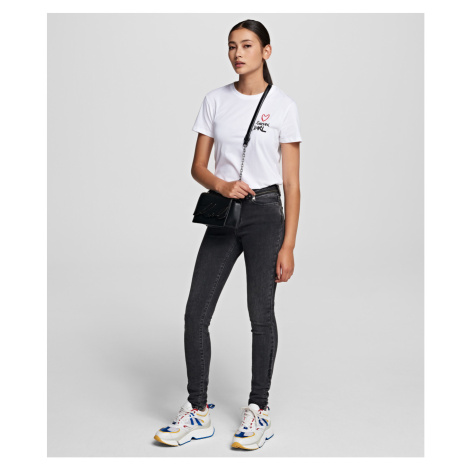 Džínsy Karl Lagerfeld Biker Denim Pants W/ Logo