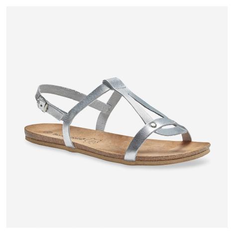 Blancheporte Kožené sandále, strieborné striebritá