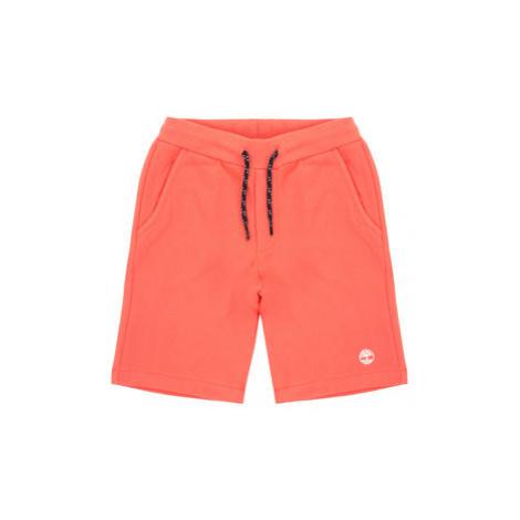 Timberland Bavlnené šortky T24A87 D Oranžová Regular Fit