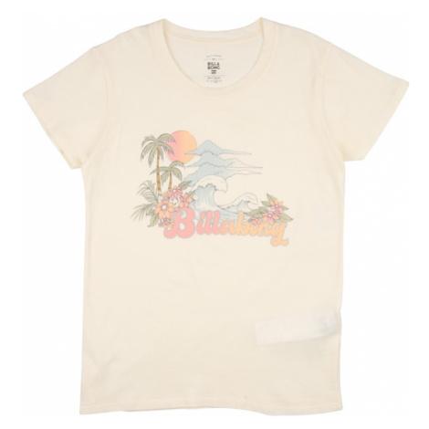 BILLABONG Funkčné tričko 'VINTAGE POSTCARD'  biela / oranžová / svetlomodrá / trávovo zelená / p