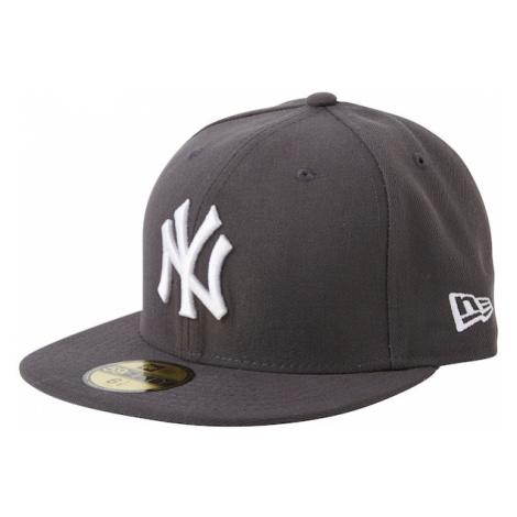 NEW ERA Čiapka '59FIFTY MLB Basic New York Yankees'  sivá / tmavosivá