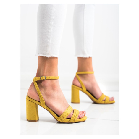 KYLIE SUEDE SANDALS ON THE POST