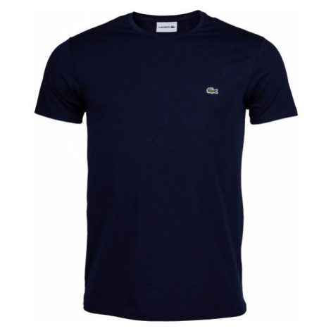 Lacoste ZERO NECK SS T-SHIRT tmavo modrá - Pánske tričko