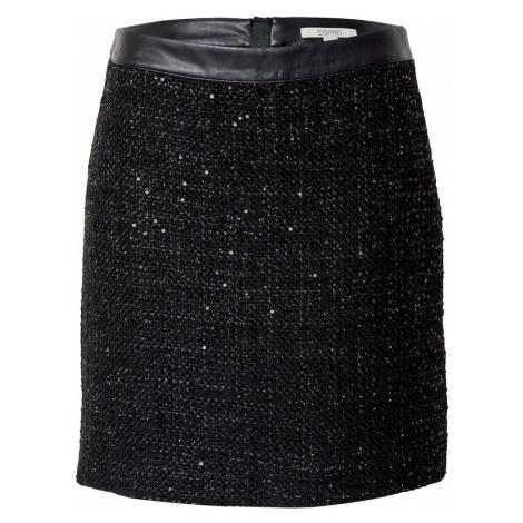 ESPRIT Sukňa 'Shiny Mercey'  čierna