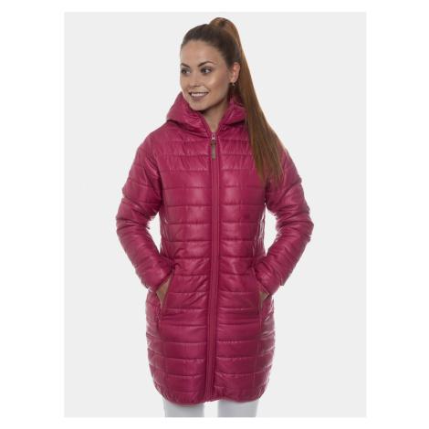 Ružový dámsky prešívaný kabát SAM 73