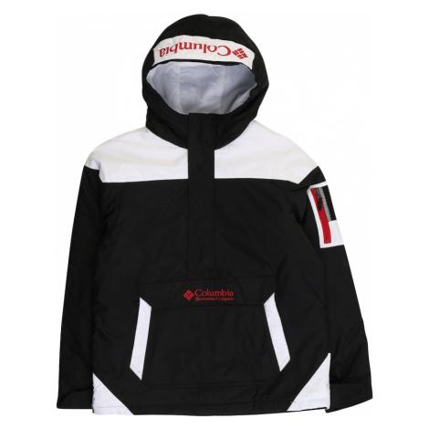 COLUMBIA Outdoorová bunda  červená / čierna / biela