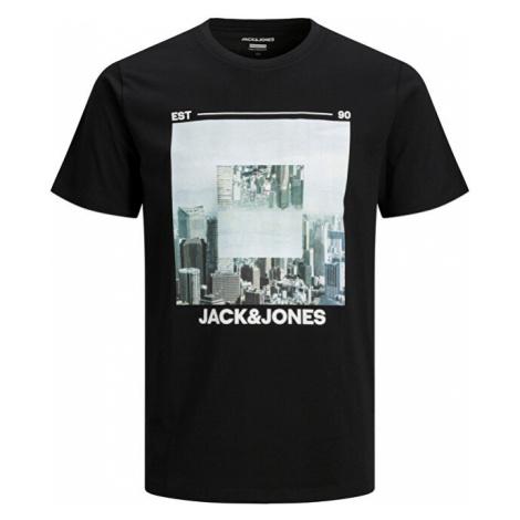 Jack&Jones Pánske tričko JJBARISTA Black Jack & Jones
