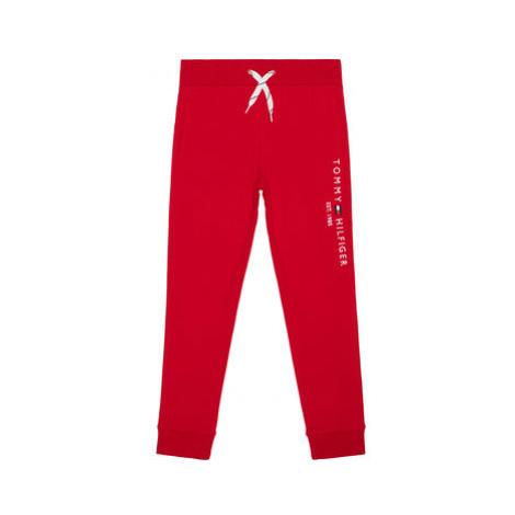 TOMMY HILFIGER Teplákové nohavice Essential KB0KB05864 Červená Regular Fit