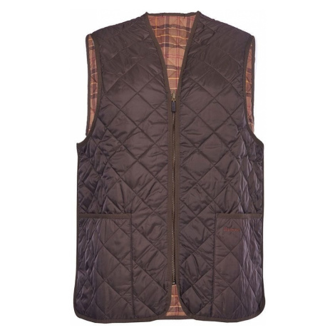 Barbour Prešívaná zatepľovacia vesta na voskované bundy Barbour - tmavo hnedá