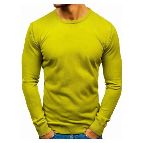 Svetlozelený pánsky sveter BOLF 2300