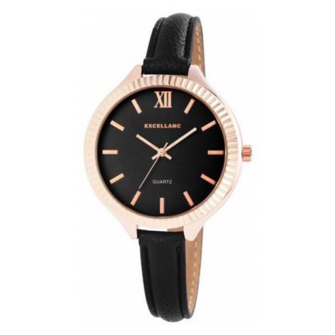 Dámske hodinky Excellanc - čierne/rose