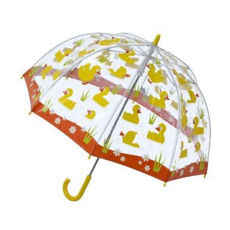 Blooming Brollies Detský priehľadný palicový dáždnik Buggz Kids Stuff Duck SBUDU