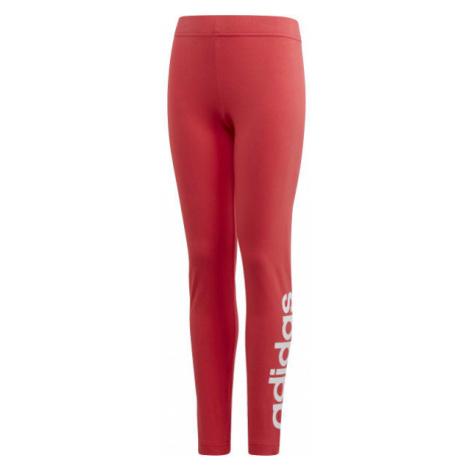 adidas YG E LIN TGHT ružová - Dievčenské legíny