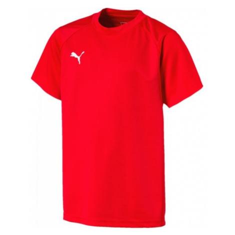 Puma LIGA TRAINING JERSEY JR červená - Detské tričko