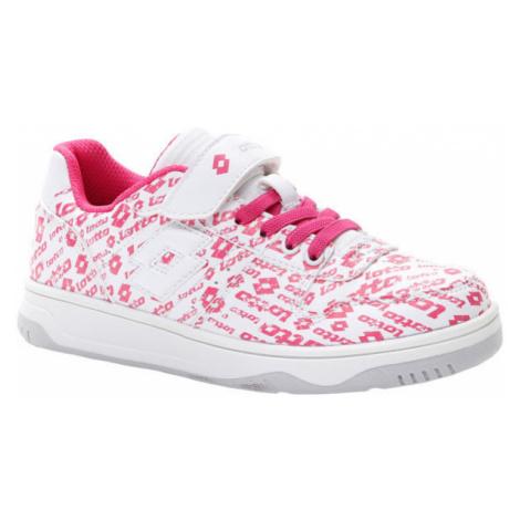 Lotto BASKETLOW AMF II LOGO CL SL biela - Dievčenská obuv na voľný čas