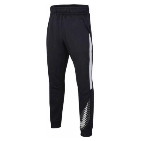 Nike THERMA GFX TAPR PANT B čierna - Chlapčenské tepláky