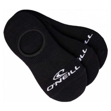 O'Neill FOOTIE ONEILL WHITE 3P čierna - Unisex ponožky