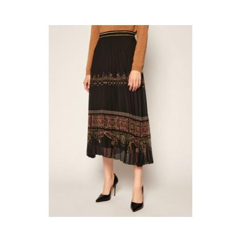Desigual Plisovaná sukňa Murray 20WWFW27 Čierna Regular Fit