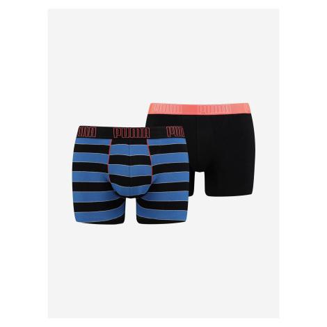 Boxerky Puma Yd Bold Stripe Boxer 2 Pack Farebná