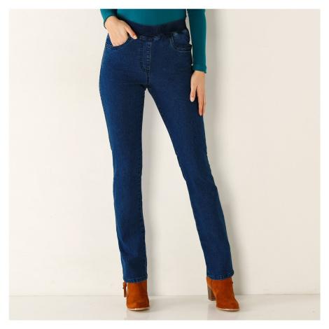 Blancheporte Rovné džínsy s pružným pásom denim
