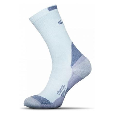 Termo bambusové ponožky svetlo-modré