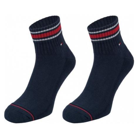 Tommy Hilfiger MEN ICONIC SPORTS QUARTER 2P tmavo modrá - Pánske ponožky