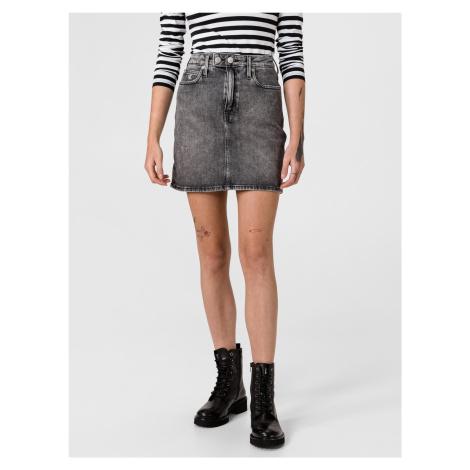 High Rise Mini Sukně Calvin Klein Šedá