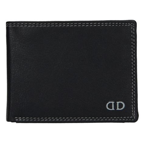 Pánska kožená peňaženka DD Anekta Fido - čierno-šedá