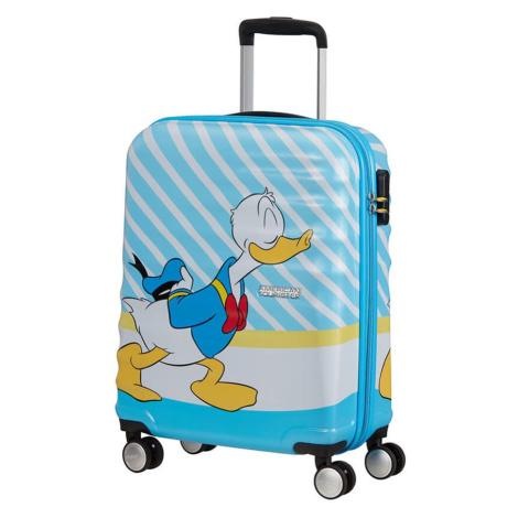 American Tourister Kabínový cestovný kufor Wavebreaker Disney Spinner 31C 36 l - Donald Blue Kis
